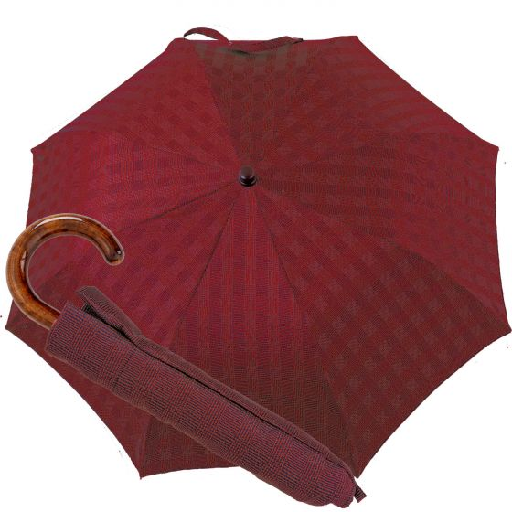 Oertel Handmade pocket umbrella maple - glencheck red | European Umbrellas