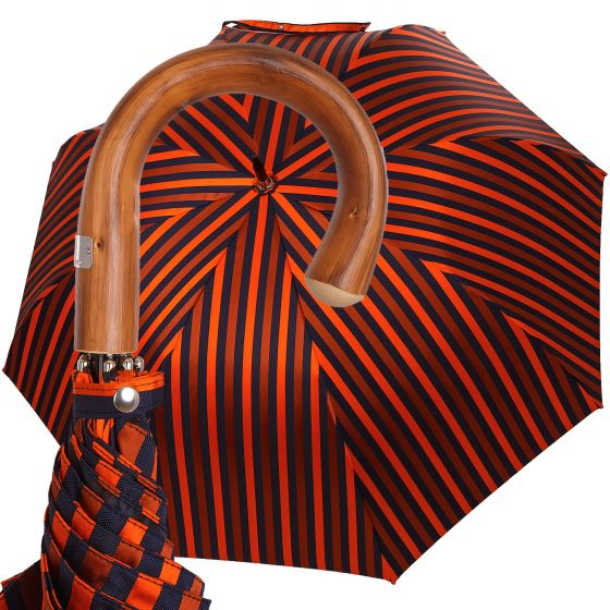 Oertel Handmade - Sport Stripes - blue-orange | European Umbrellas